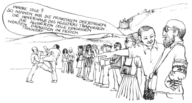 Satirischer Cartoon zum Thema 'Innere Stile'